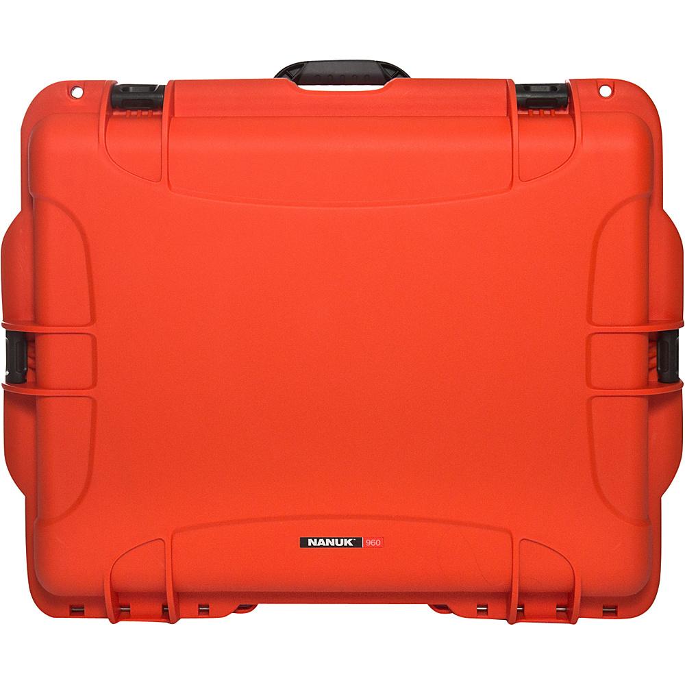 NANUK 960 Case With Padded Divider Orange NANUK Hardside Luggage