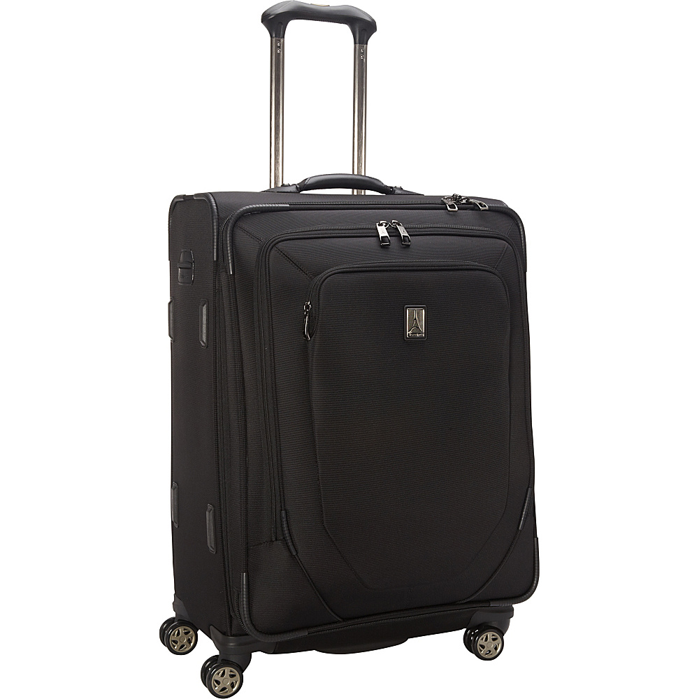 """Travelpro Crew 10 25"""" Expandable Spinner - CLOSEOUT Black - Travelpro Large Rolling Luggage"""