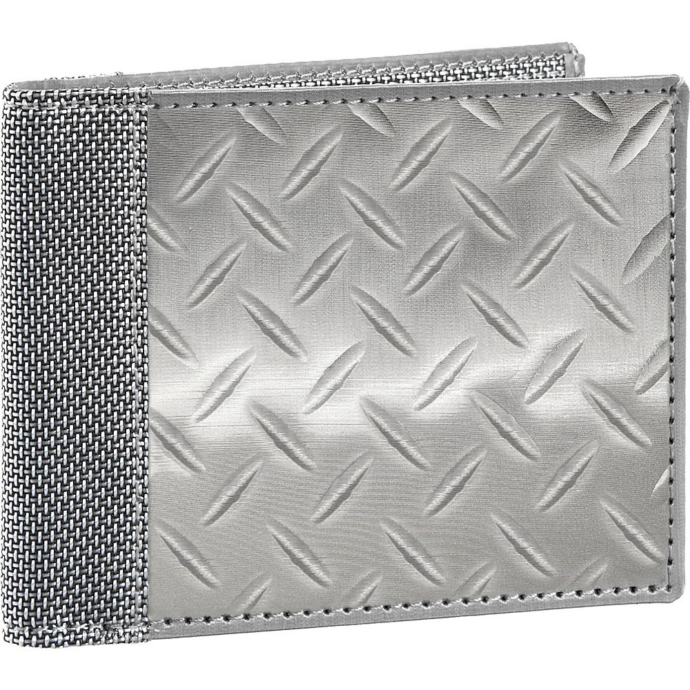Stewart Stand RFID Blocking Bill Fold Silver Textured Stewart Stand Men s Wallets