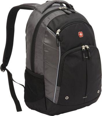 SwissGear Travel Gear Stealth Lightweight Backpack Black / Grey / Silver - SwissGear Travel Gear Business & Laptop Backpacks