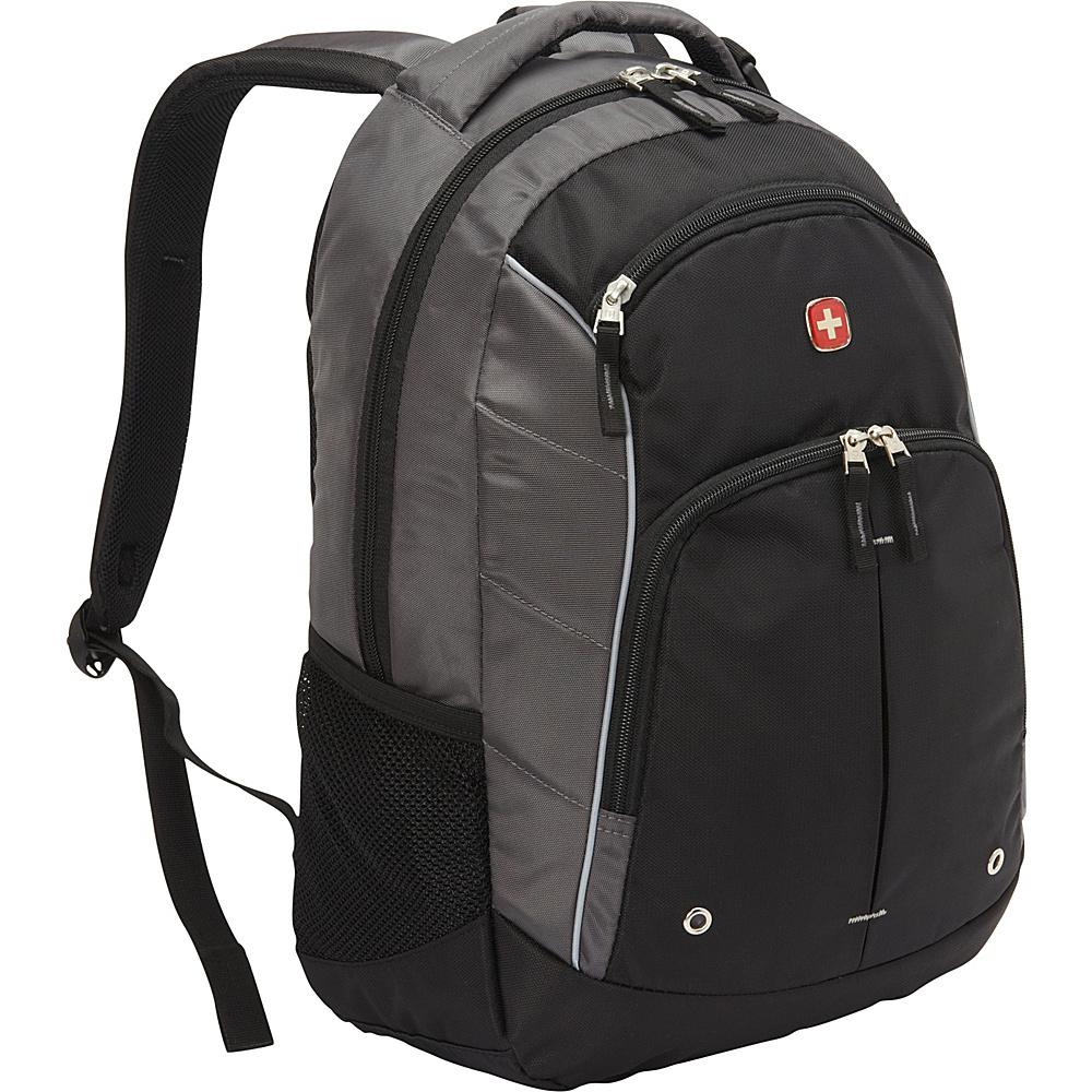 SwissGear Travel Gear Stealth Lightweight Backpack Grey with Black SwissGear Travel Gear Everyday Backpacks