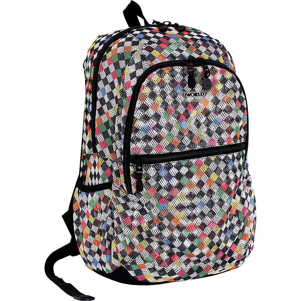 J World New York Mesh School Backpack CHECKERS - J World New York Everyday Backpacks - Backpacks, Everyday Backpacks