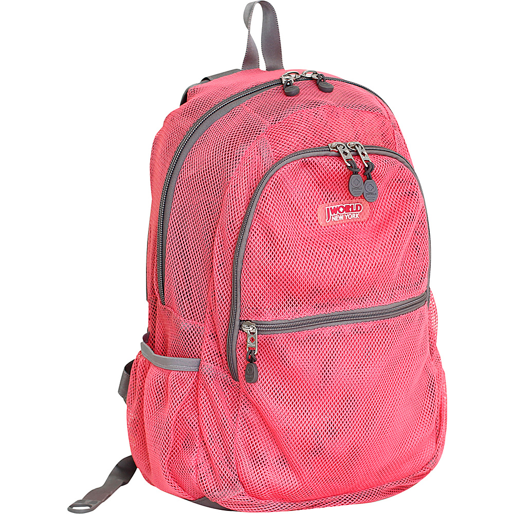 J World New York Mesh School Backpack Pink - J World New York Everyday Backpacks - Backpacks, Everyday Backpacks