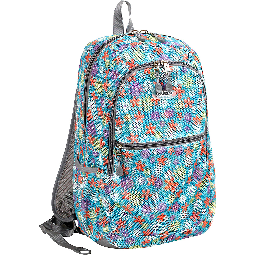 J World New York Mesh School Backpack SPRING - J World New York Everyday Backpacks - Backpacks, Everyday Backpacks