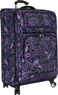 Ricardo Beverly Hills Mar Vista 28-Inch 4 Wheeled Expandable Upright Purple Paisley - Ricardo Beverly Hills Softside Checked