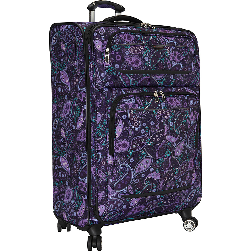 Ricardo Beverly Hills Mar Vista 28 Inch 4 Wheeled Expandable Upright Purple Paisley Ricardo Beverly Hills Softside Checked