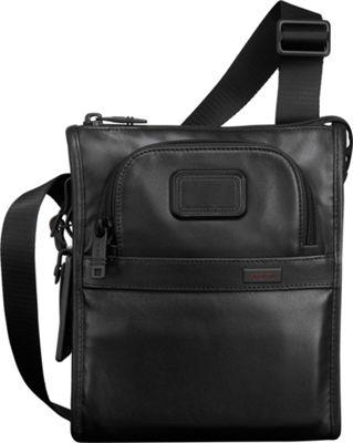 Tumi Alpha 2 Leather Pocket Bag Small Black - Tumi Other Men's Bags
