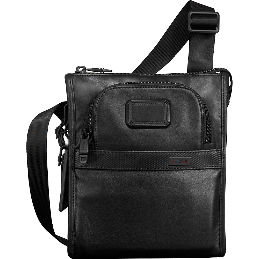 Tumi Alpha 2 Leather Pocket Bag Small Black - Tumi Other Mens Bags - Work Bags & Briefcases, Other Men's Bags