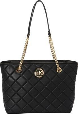 MICHAEL Michael Kors Fulton Quilt Large E/W Tote Black - MICHAEL Michael Kors Designer Handbags
