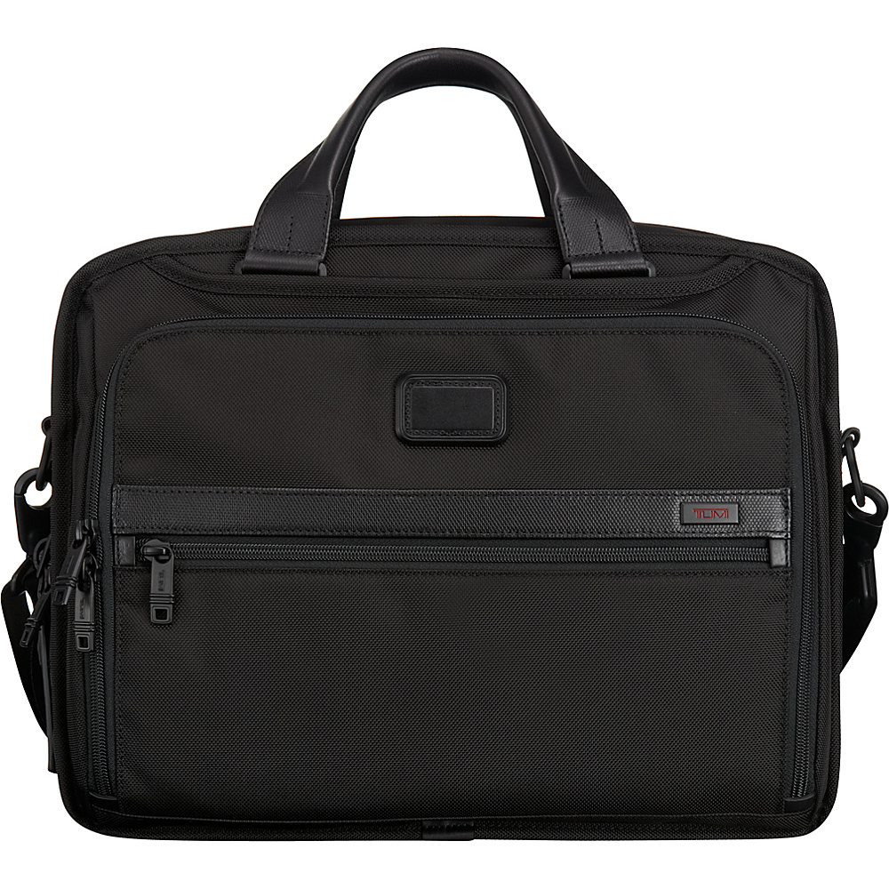 Tumi Alpha 2 Organizer Brief Black - Tumi Non-Wheeled Business Cases - Work Bags & Briefcases, Non-Wheeled Business Cases