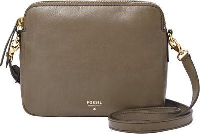 Fossil Sydney Crossbody Mushroom - Fossil Leather Handbags