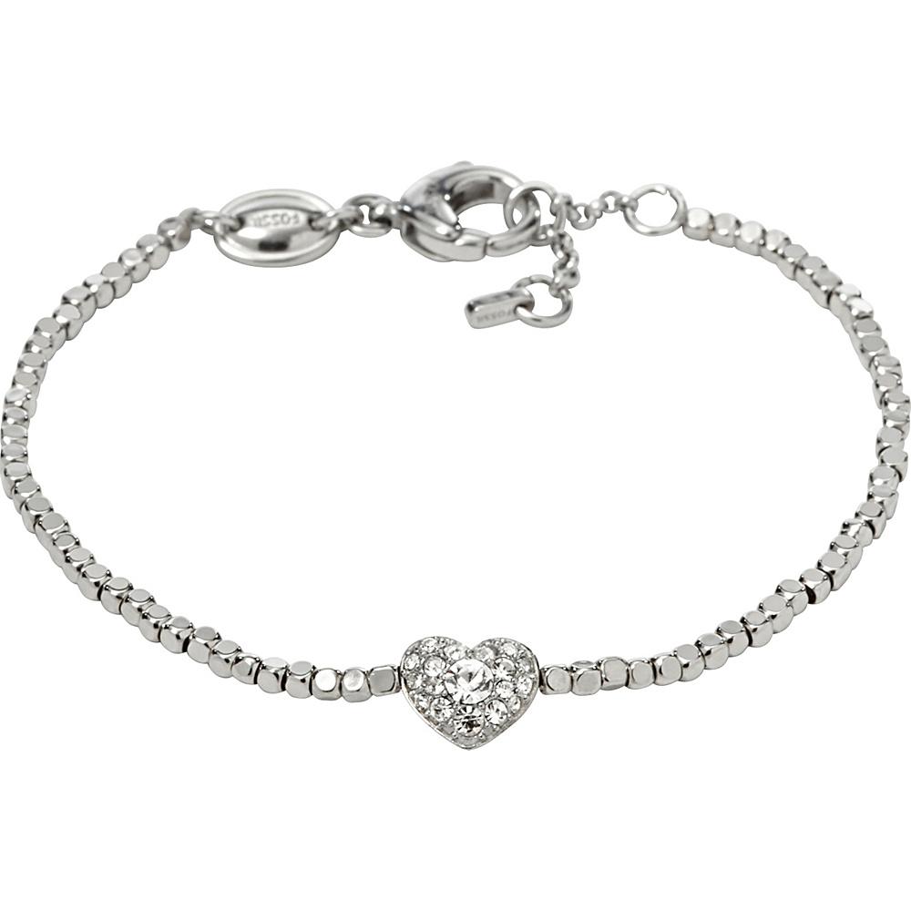 Fossil Nugget Heart Bracelet Silver - Fossil Other Fashion Accessories - Fashion Accessories, Other Fashion Accessories