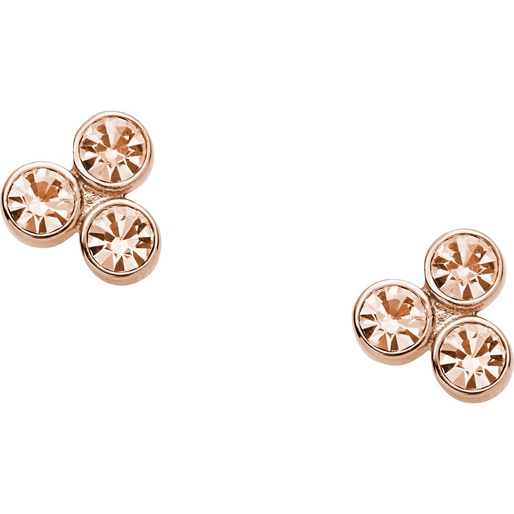 Fossil Glitz Dot Stud Rose Gold Turquois Fossil Other Fashion Accessories