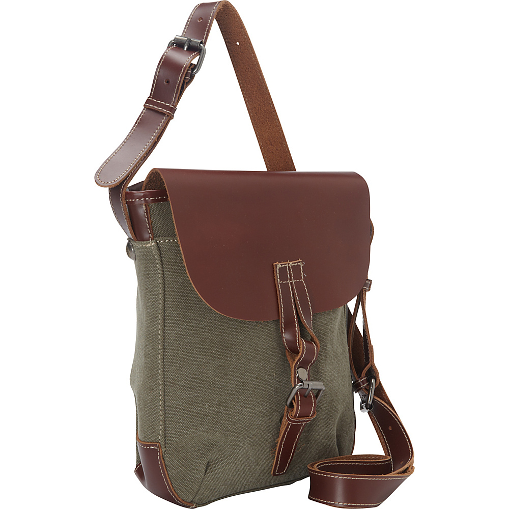 Vagabond Traveler Canvas Stylish Shoulder Bag Military Green - Vagabond Traveler Other Mens Bags - Work Bags & Briefcases, Other Men's Bags