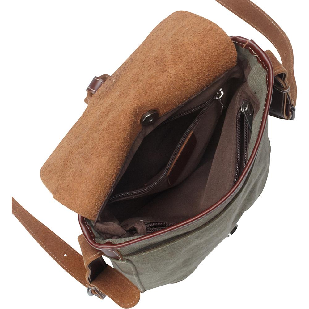 Vagabond Traveler Canvas Stylish Shoulder Bag Military Green - Vagabond Traveler Other Men's Bags