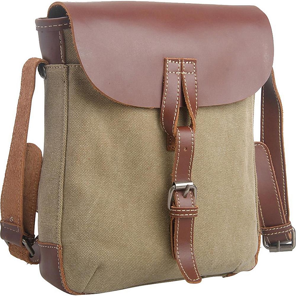 Vagabond Traveler Canvas Stylish Shoulder Bag Khaki - Vagabond Traveler Other Mens Bags - Work Bags & Briefcases, Other Men's Bags