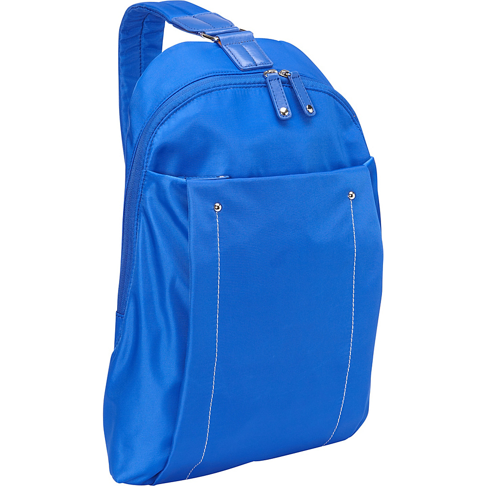 "Women In Business Miami City Slim Backpack - 14"" Blue - Women In Business Slings"
