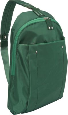 Women In Business Women In Business Miami City Slim Backpack - 14 inch Green - Women In Business Slings