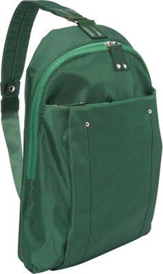 Women In Business Miami City Slim Backpack - 14 inch Green - Women In Business Slings