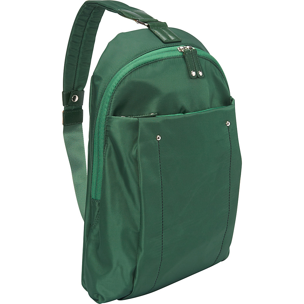 "Women In Business Miami City Slim Backpack - 14"" Green - Women In Business Slings"