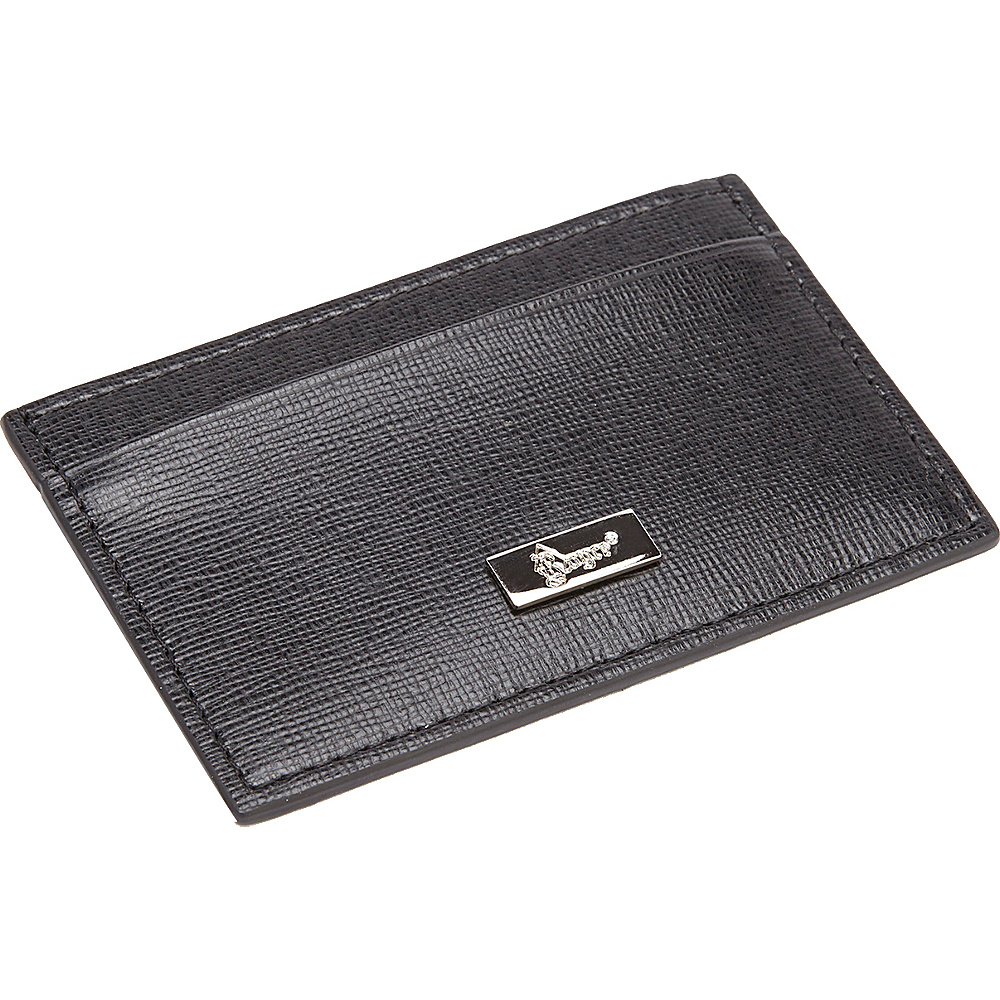 Royce Leather RFID Blocking Saffiano Leather Slim Card Case Wallet Black Royce Leather Women s Wallets