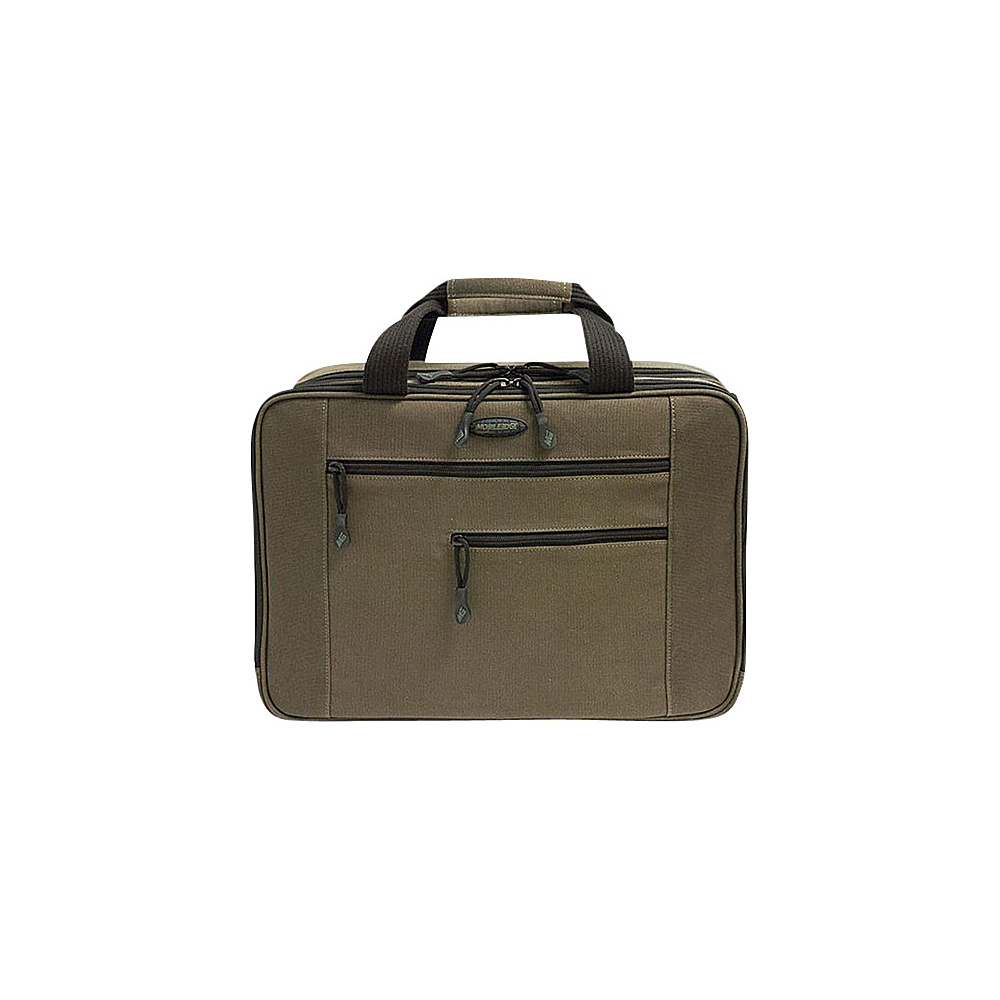 "Mobile Edge Canvas ECO Briefcase - 16""17"" Macbook Olive Green - Mobile Edge Non-Wheeled Business Cases"