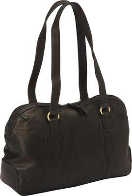 Derek Alexander E/W Top Zip Satchel Bag Black - Derek Alexander Leather Handbags