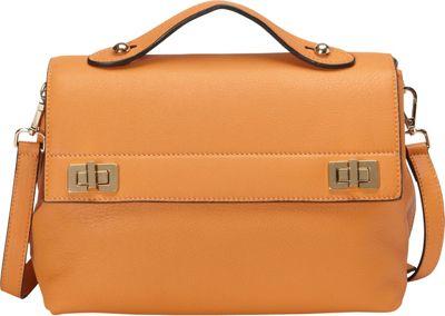 Donna Bella Designs Audrey Shoulder Bag Orange - Donna Bella Designs Leather Handbags