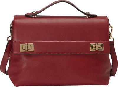 Donna Bella Designs Audrey Shoulder Bag Red - Donna Bella Designs Leather Handbags