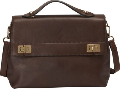Donna Bella Designs Audrey Shoulder Bag Chocolate - Donna Bella Designs Leather Handbags