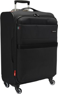 Roncato Venice 27.5 inch Expandable Spinner Luggage Black - Roncato Softside Checked