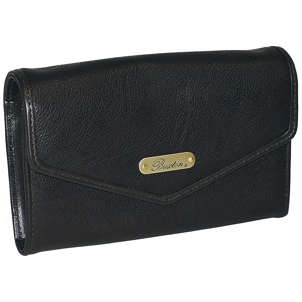 Buxton Chained Crossbody Wallet Black Buxton Women s Wallets