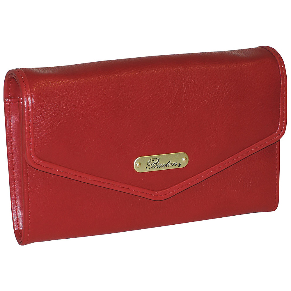 Buxton Chained Crossbody Wallet Red Buxton Women s Wallets