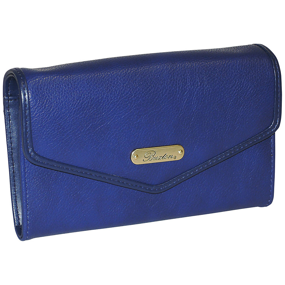 Buxton Chained Crossbody Wallet Ultramarine Buxton Women s Wallets