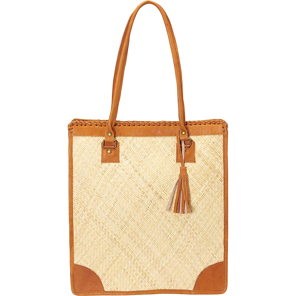 TLC you Lauren Tote Natural with Natural TLC you Fabric Handbags