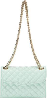 Rebecca Minkoff Quilted Mini Affair Wintermint - Rebecca Minkoff Designer Handbags