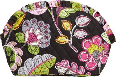 Vera Bradley Large Ruffle Cosmetic Moon Blooms - Vera Bradley Ladies Cosmetic Bags