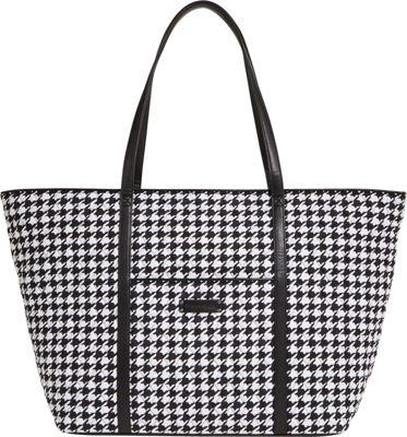 Vera Bradley Trimmed Vera Traveler Midnight Houndstooth - Vera Bradley Fabric Handbags