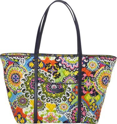 Vera Bradley Trimmed Vera Traveler Rio - Vera Bradley Fabric Handbags