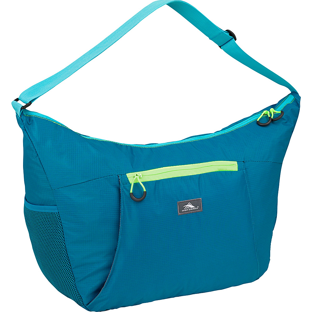 High Sierra 26L Packable Yoga Duffel SEA/TROPIC TEAL/ZEST - High Sierra Lightweight packable expandable bags