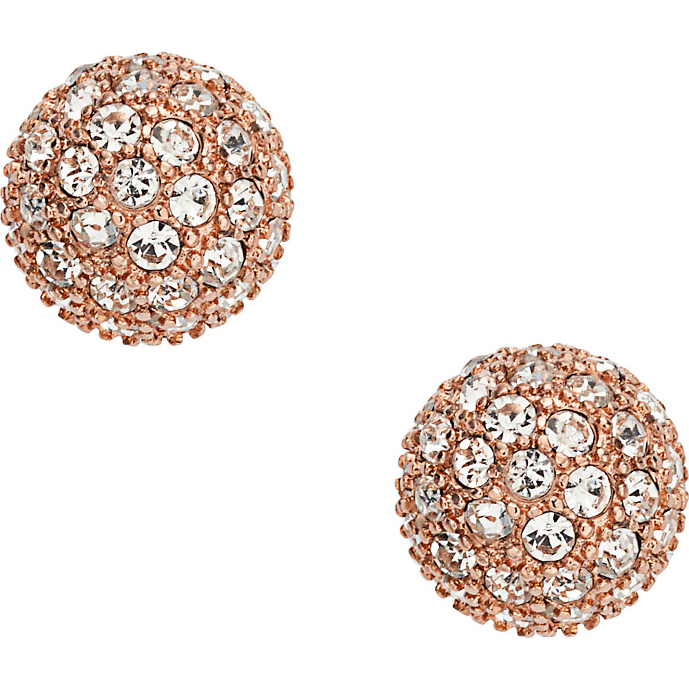 Fossil Pave Ball Stud Rose Gold/Turquois - Fossil Jewelry - Fashion Accessories, Jewelry