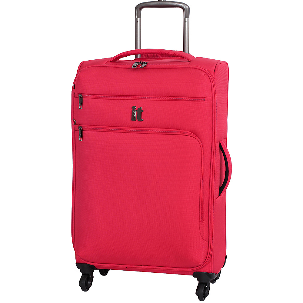 it luggage MegaLite Luggage Collection 27.4 Spinner eBags Exclusive Fiery Red it luggage Softside Checked