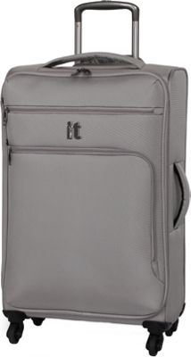 it luggage MegaLite Luggage Collection 27.4 inch Spinner- eBags Exclusive Flint Gray - it luggage Softside Checked