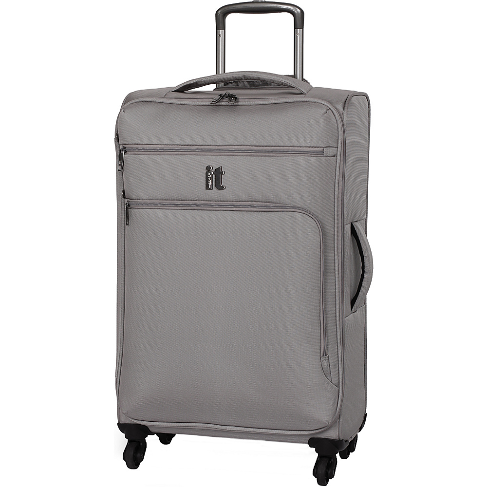 it luggage MegaLite Luggage Collection 27.4 Spinner eBags Exclusive Flint Gray it luggage Softside Checked