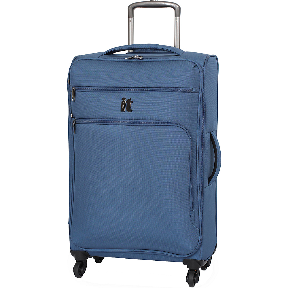 it luggage MegaLite Luggage Collection 27.4 Spinner eBags Exclusive Blue Ashes it luggage Softside Checked