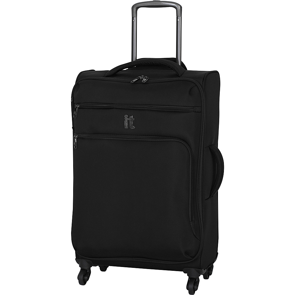 it luggage MegaLite Luggage Collection 27.4 Spinner eBags Exclusive Black it luggage Softside Checked