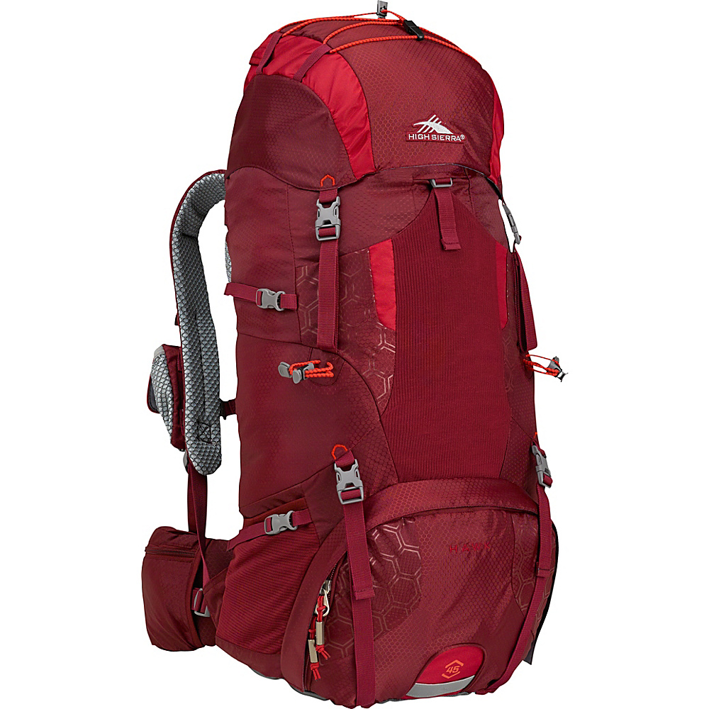 High Sierra Hawk 45 Frame Pack BRICK RED/CARMINE/RED LINE - High Sierra Day Hiking Backpacks