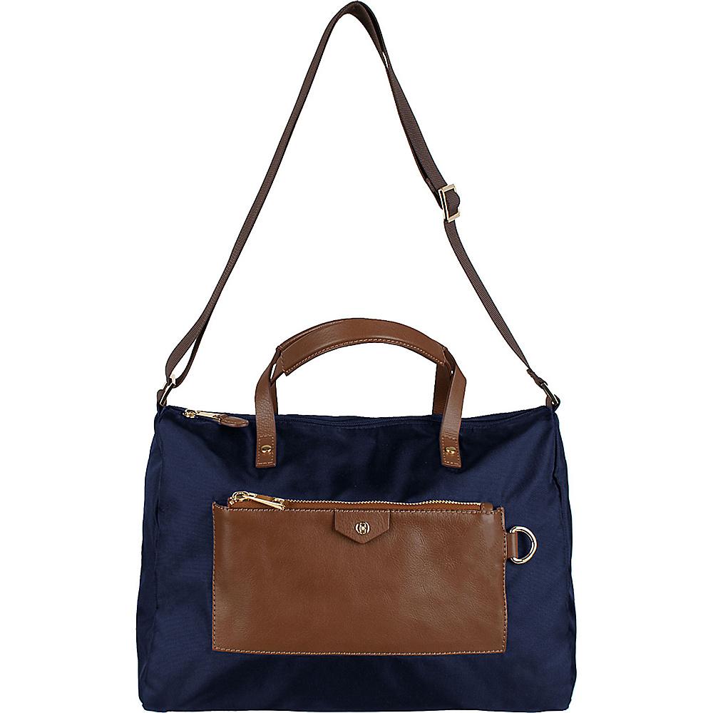 Boulevard Vivian Messenger Navy - Boulevard Fabric Handbags