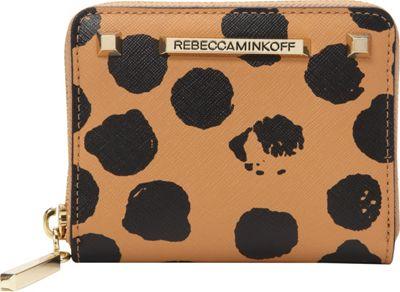 Rebecca Minkoff Mini Ava Zip Wallet Cuoio/Black - Rebecca Minkoff Designer Ladies Wallets