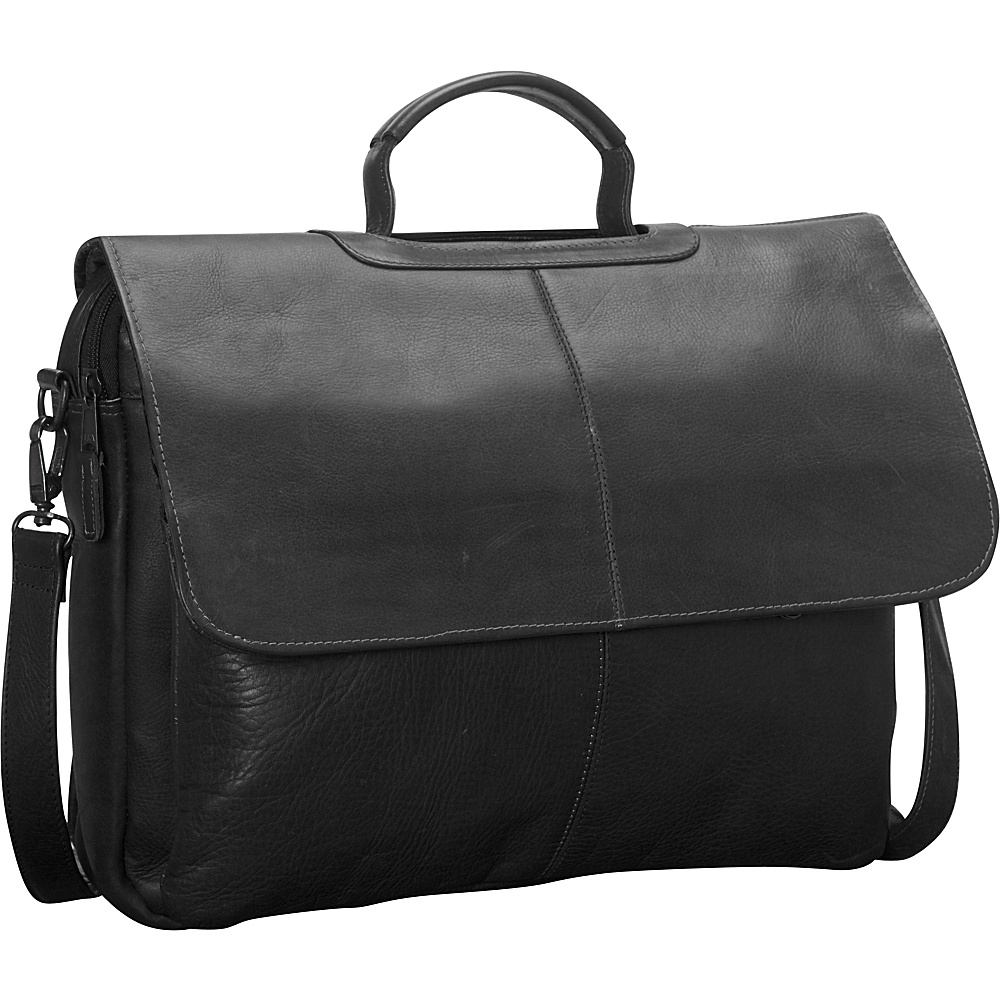 Latico Leathers Liberty Laptop Brief Black - Latico Leathers Non-Wheeled Business Cases - Work Bags & Briefcases, Non-Wheeled Business Cases